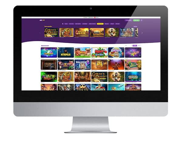 Jalla Casino Desktop lobby