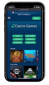Turbonino Casino mobile