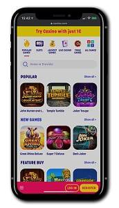 Caxino Casino mobile gaming