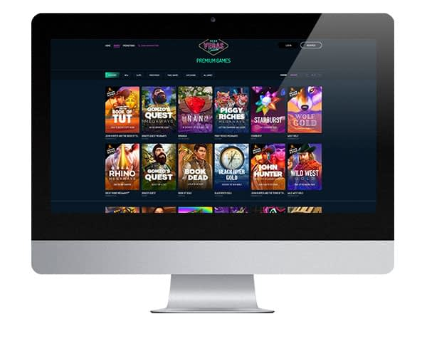 Neon Vegas Casino on desktop