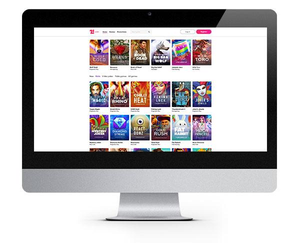 21.com Casino desktop